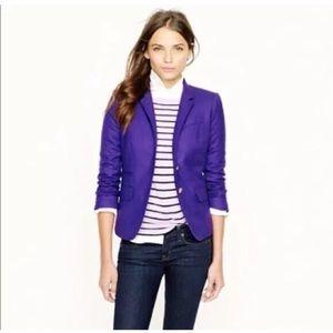 J. Crew purple wool schoolboy blazer